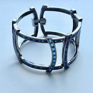 Givenchy Hinged Blue Crystal Bracelet